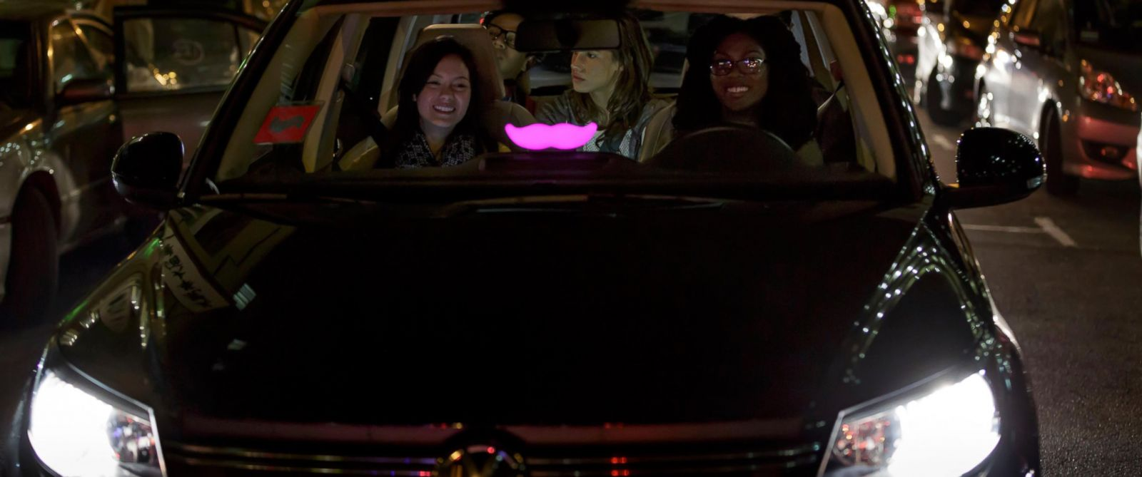 PHOTO:A Lyft car is seen in this undated file photo.
