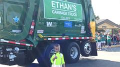 PHOTO: Ethan Dean, 6, had his wish to be a garbage man granted by the Make-A-Wish Foundation.