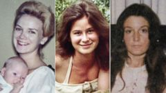 PHOTO: Mary Horton Vail (left), Annette Vail (center), and Sharon Hensley (right) were last seen by Felix Vail.