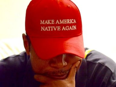 Navajo Artist Mocks Trump With 'Make America Native Again' Hats