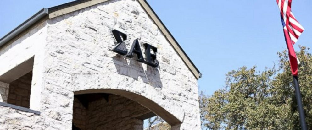 PHOTO: SAE fraternity house is seen at the University of Texas at Austin.