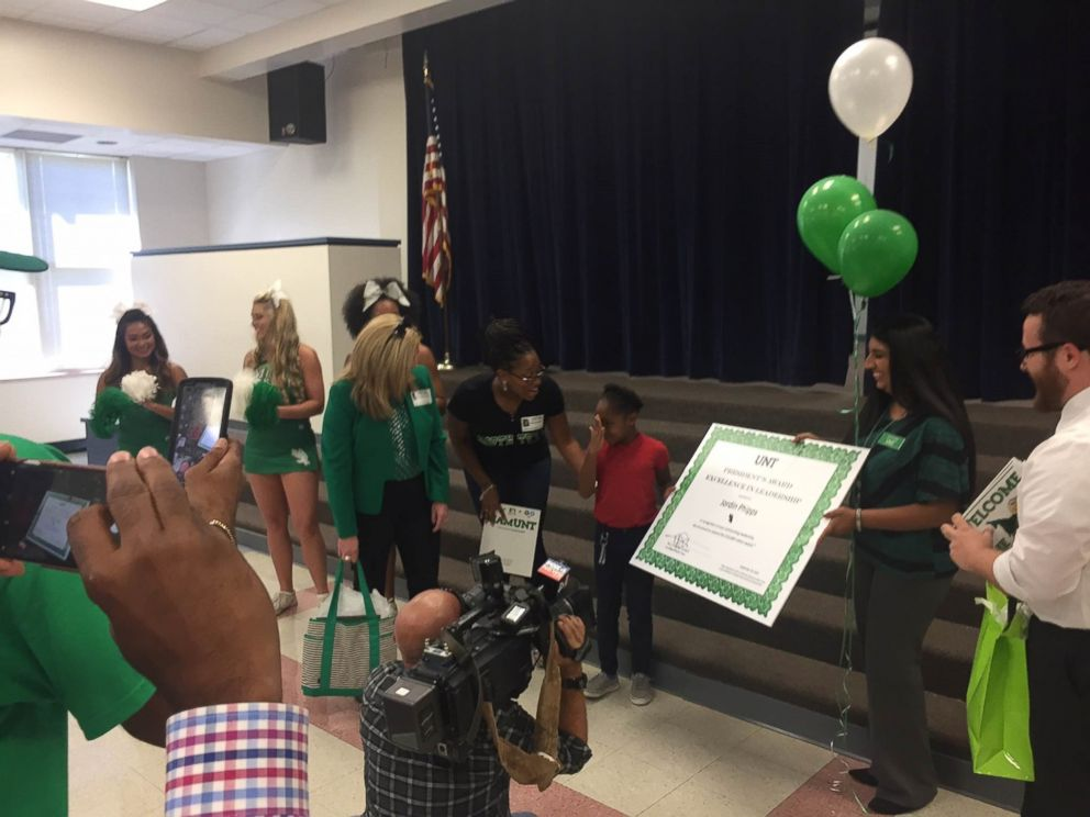 PHOTO: Jordin Phipps, 8, was awarded a $10,000 scholarship and early admittance to the University of North Texas.