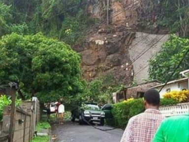 PHOTO: Mudslide in St. Lucia on Wednesday afternoon, Sept. 28, 2016.
