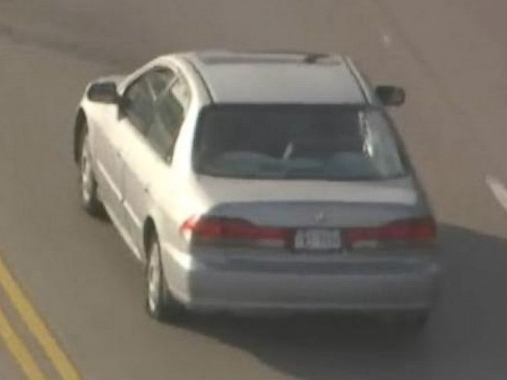 PHOTO: In this photo from video from ABC station KTRK-TV, a car involved in a police chase in Harris County, Texas, on Wednesday, July 9, 2014.