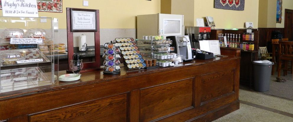 PHOTO: The Vault coffee shop in Valley City, North Dakota, operates on the honor system.