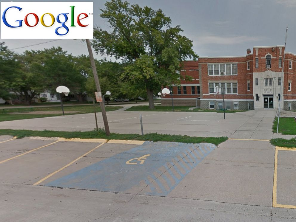 PHOTO: Wisner Pilger Middle School is seen in this undated Google map before the tornado in Nebraska struck, June 16, 2014.