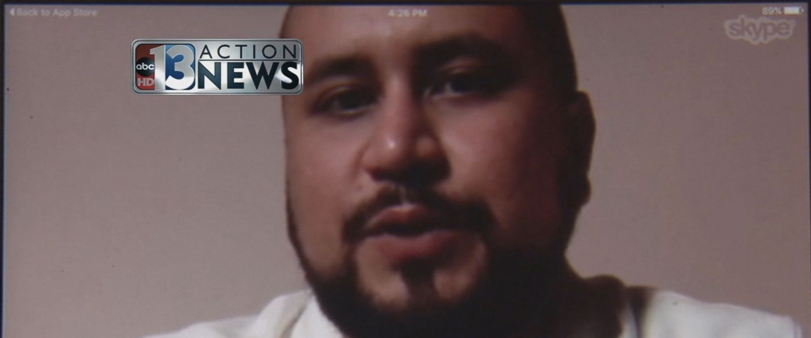 PHOTO:George Zimmerman speaks to ABC News affiliate Action-13 in Las Vegas via Skype, May 23, 2016.