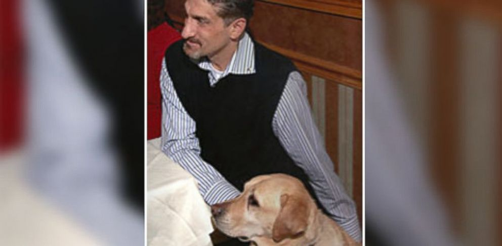 PHOTO: Long Island resident Albert Rizzi and his guide-dog Doxy.