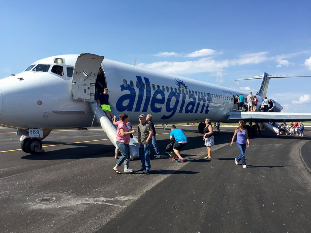 PHOTO: Allegiance Airlines Flight 864 made an emergency landing on June 8, 2015 due to smoke in the cabin.