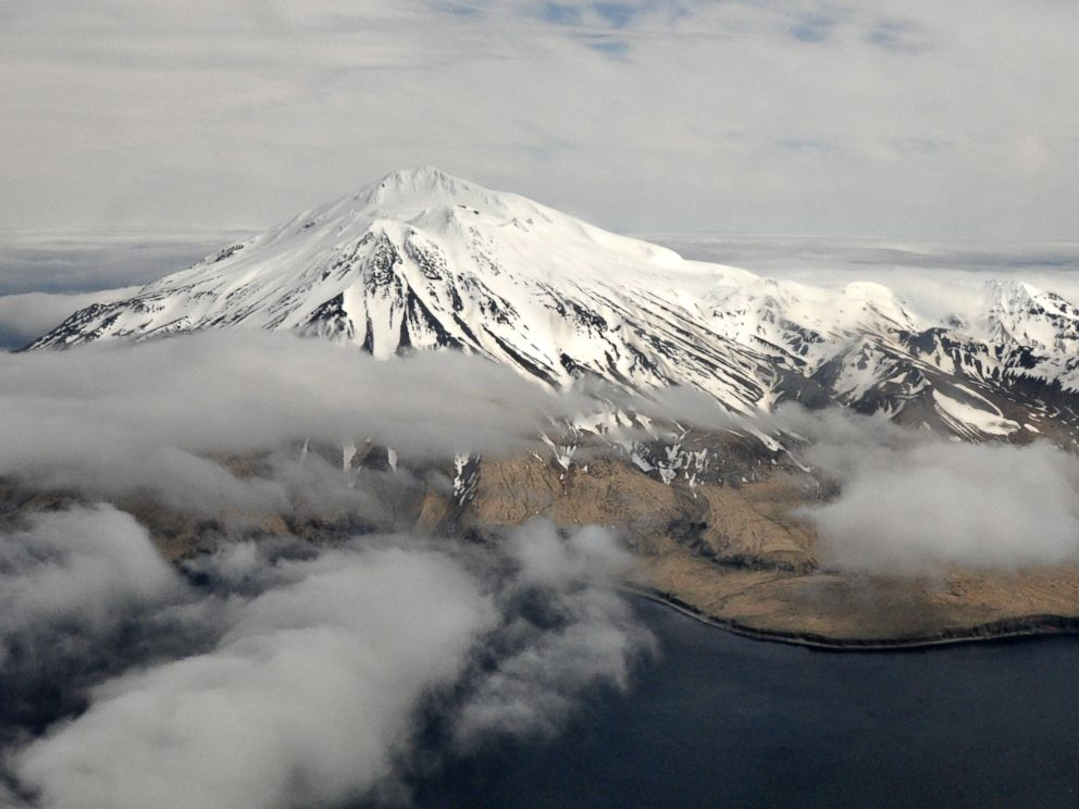 PHOTO: Mount Moffett on Adak Island, part of the Aleutian Island chain in Alaska, May 15, 2014.