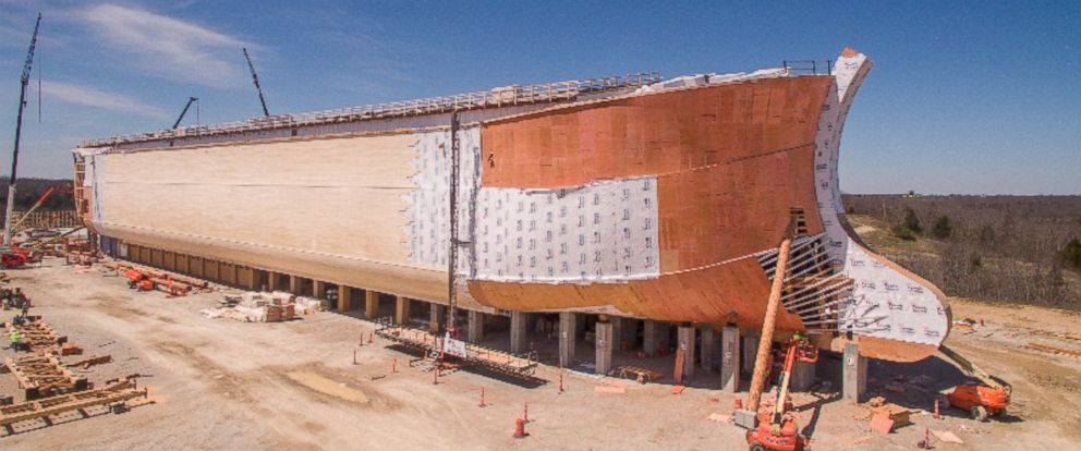 PHOTO: Construction on the Ark Encounter theme park is seen here in this undated file photo.
