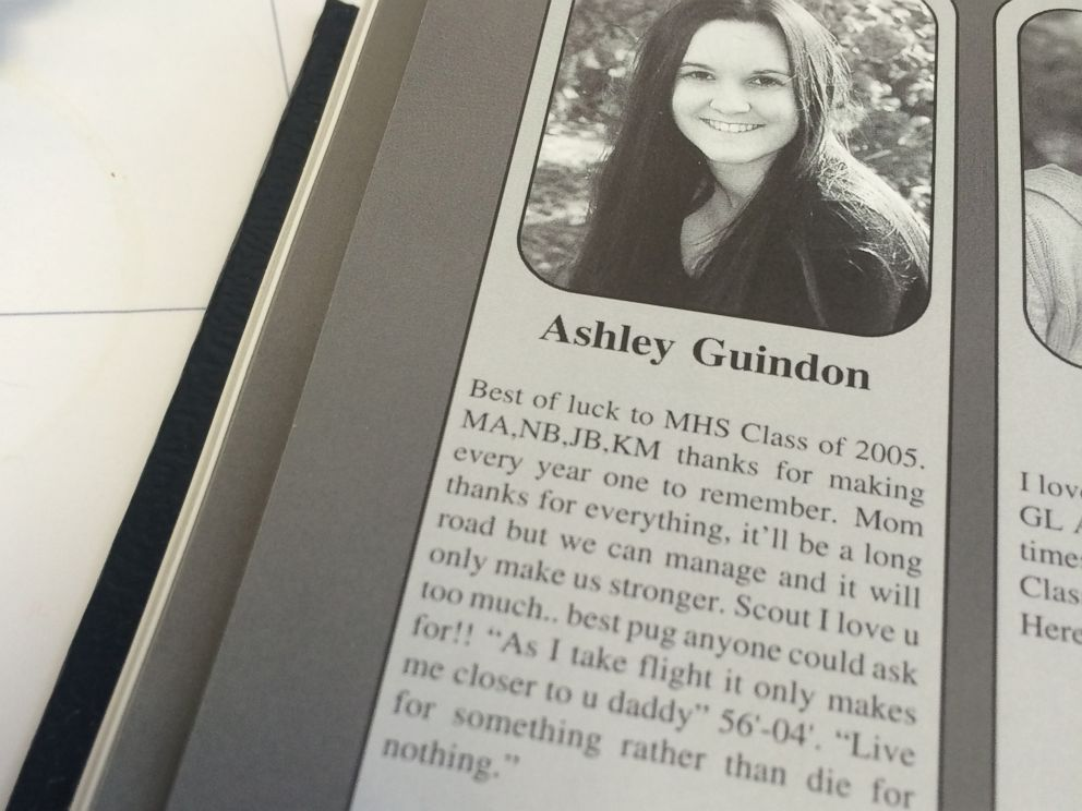 PHOTO: Merrimack High School principal Ken Johnson provided this yearbook photo of Ashley Guindon, a police officer killed in the line of duty Feb. 27, 2016.