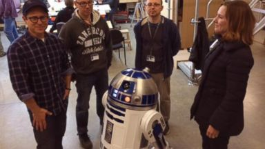 "PHOTO: J.J. Abrams posted this photo to Twitter on Nov. 14, 2013 with the caption, ""Hi from the workshop!"""