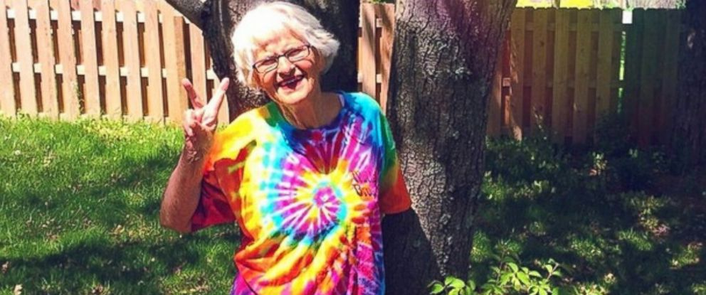 PHOTO: Instagrams new star, Baddie Winkle, poses in a tie-dye T-shirt.