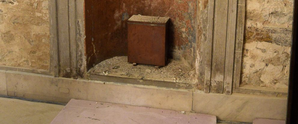 PHOTO: Interior of Washington Monument where the 1915 Time Capsule was revealed.