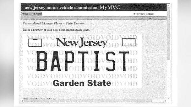 HT baptist license plate blur h jt 140419 16x9 608 Woman Sues After 8THEIST Plate Denied, BAPTIST Approved