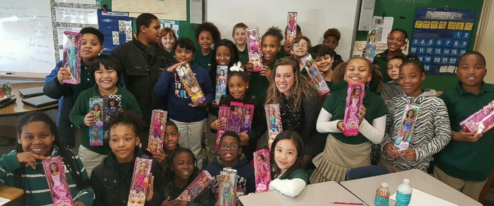 PHOTO: Gianni Graham, a 9-year-old girl from Norfolk, Virginia, is on a mission to collect 1,000 Barbie dolls for homeless girls.