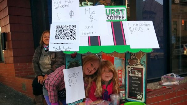 HT bit coin lemonade stand jef 140108 16x9 608 Girls Will Accept Bitcoin for Their Lemonade and Cookies
