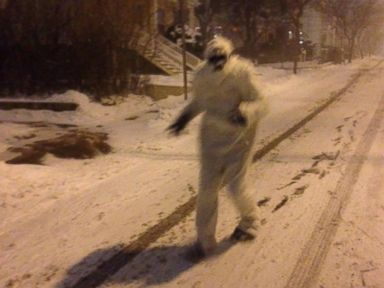 PHOTO: The Boston yeti pictured in the Massachusetts snow.