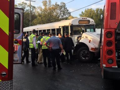 More Than 40 Injured After Bus Carrying Kids Crashes in DC