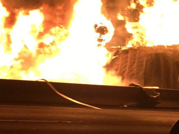 PHOTO: Winnie Huang provided photos from a deadly multi-vehicle crash on I-5 in Commerce, Calif., Feb. 27, 2016.