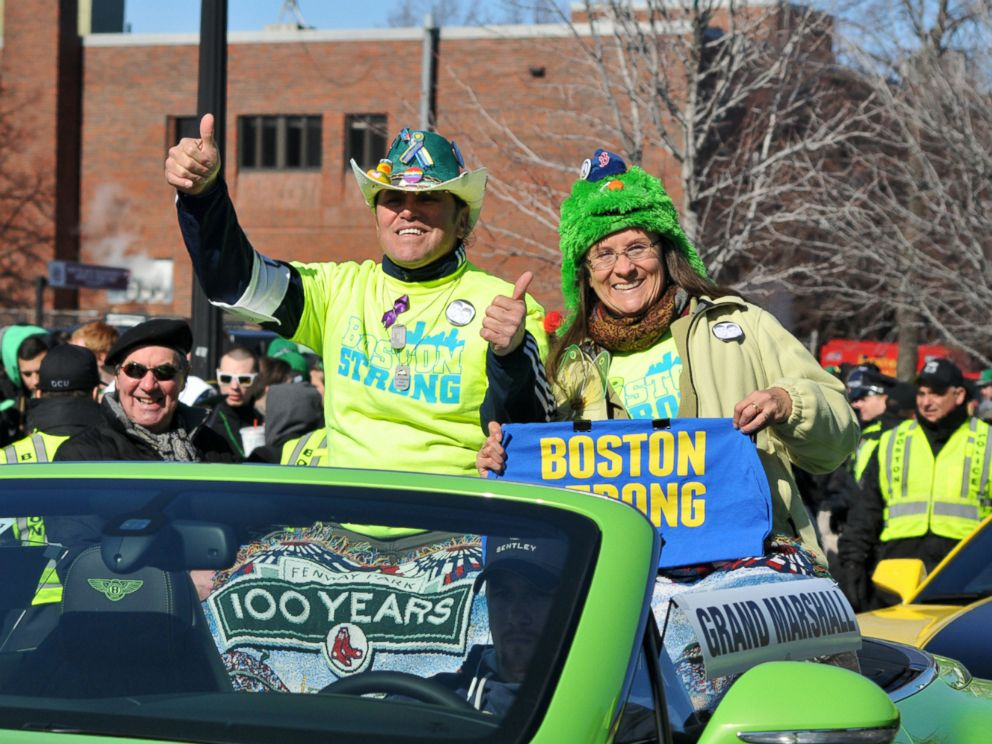 PHOTO: Carlos and Melida Arredondo at the 2014 St Patricks Peace Parade in Boston.