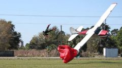 PHOTO: A Cessna collision with a skydiver and subsequent crash in Tampa, Fla., on Saturday, May 8, 2014, is captured by witness Tim Telford.