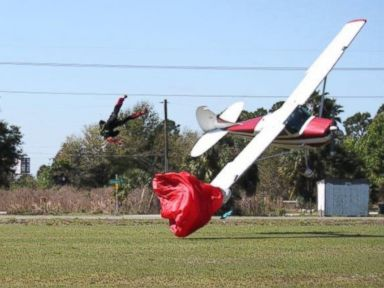 Skydiver Collides With Plane, Sending Him Slamming into Ground