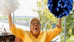 PHOTO: Burnece Walker Brunson, 101, was honored at Tennessee State Universitys homecoming Oct. 15 as the co-grand marshal. She was one of the schools first cheerleaders.