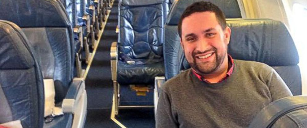 "PHOTO: ""No, Im not joking. Im the only one on this plane,"" posted Chris OLeary, Jan. 12, 2015."