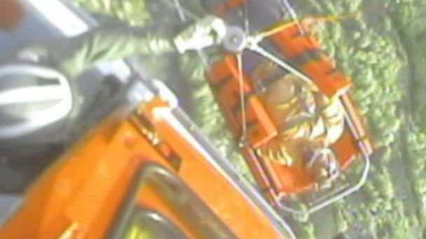 HT coast guard rescue 1 jtm 131218.jpg 16x9 608 Coast Guard Saves Man Kicked Off Mountain by Goat