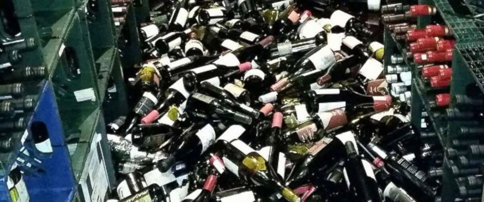 """PHOTO: Cole Drake Events posted this photo to Instagram with the caption """"This is what an earthquake does in napa wine country"""" on Aug. 24, 2014."""