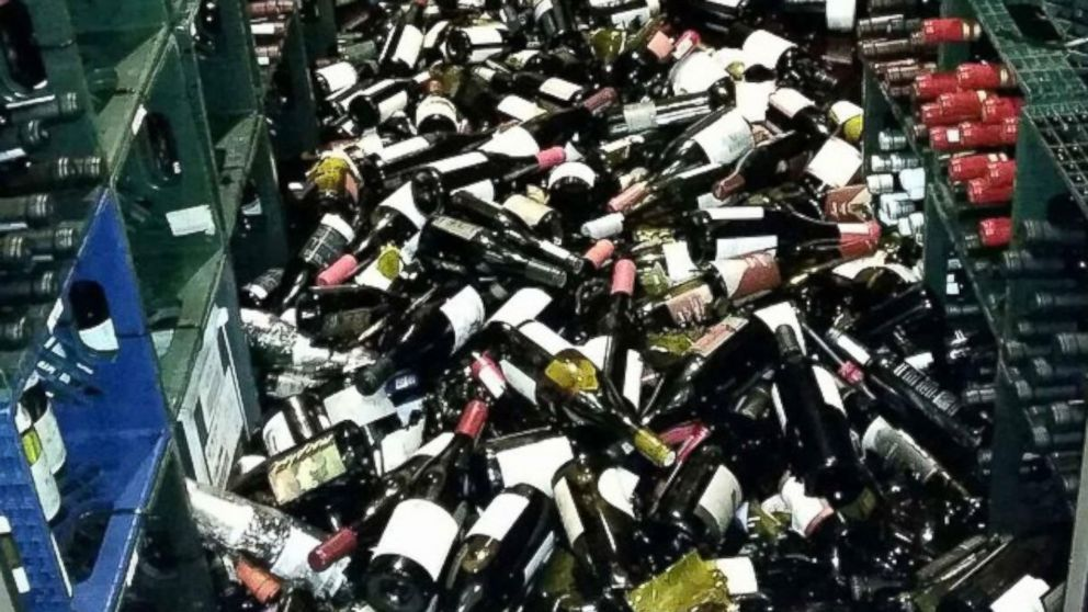 "PHOTO: Cole Drake Events posted this photo to Instagram with the caption ""This is what an earthquake does in napa wine country"" on Aug. 24, 2014."