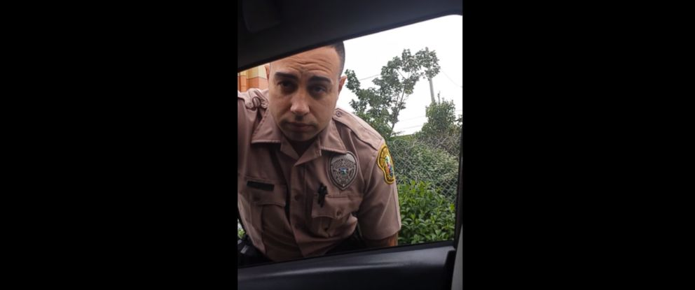 PHOTO: Video clips were posted to YouTube under the name Claudia Castillo, showing her pulling over a cop for allegedly speeding in South Florida.