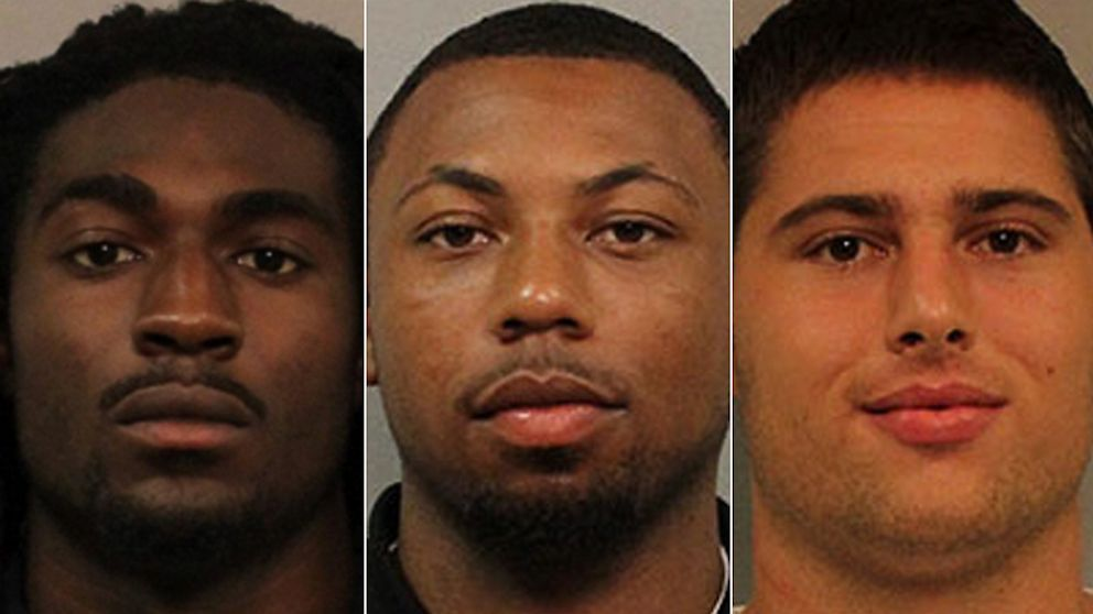 PHOTO: Cory Batey, JaBorian McKenzie and Brandon Vandenburg were charged with rape