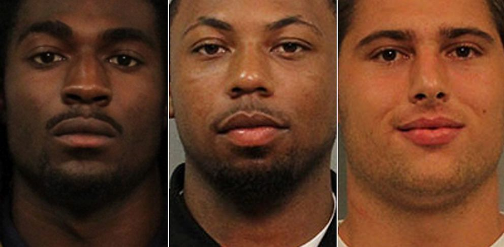PHOTO: Cory Batey, JaBorian McKenzie and Brandon Vandenburg were charged with rape