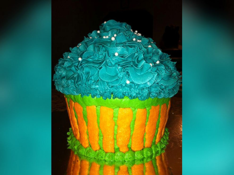 PHOTO: A cake-sized cupcake made by Chloe Stirling.