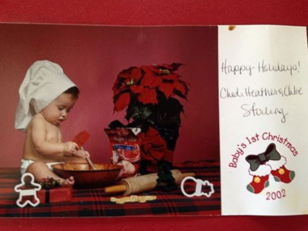 PHOTO: Chloe Stirling, at one year old, in a family holiday card, 2002.