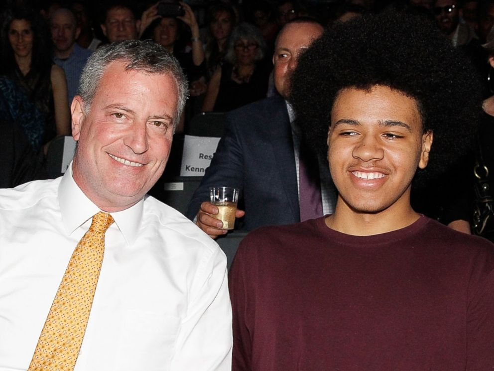PHOTO: New York City Mayor, Bill de Blasio and son Dante de Blasio attend Celebrate Brooklyn! Opening Night Gala And Janelle Monae Concert at Prospect Park Bandshell, June 4, 2014 in New York.