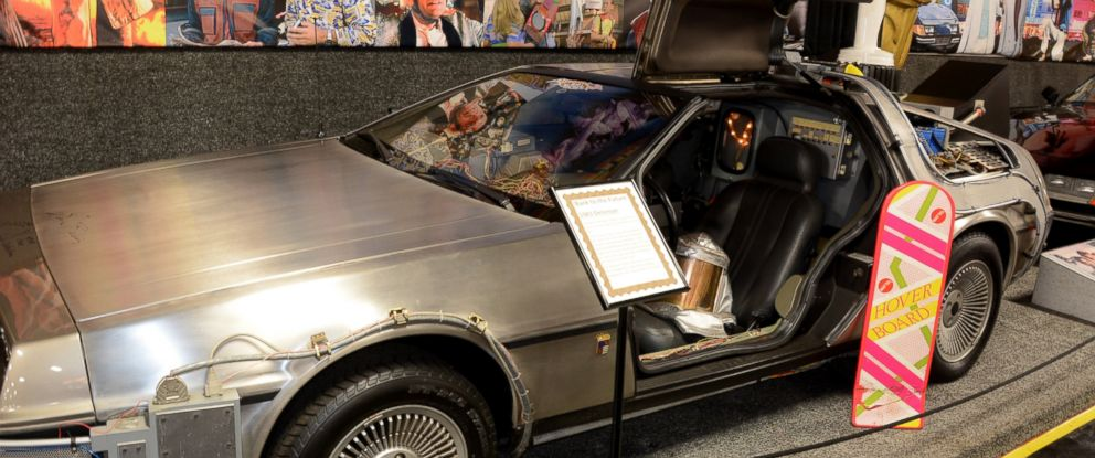 "PHOTO: The 1981 exhibition model of the ""Back to the Future"" Delorean Time Machine car is pictured here."