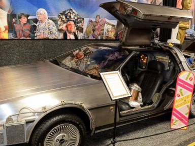 PHOTO: The 1981 exhibition model of the Back to the Future Delorean Time Machine car is pictured here.