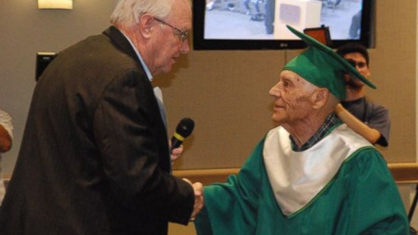 HT dennis j baca jt 140622 16x9 608 World War II Veteran Gets High School Diploma 70 Years Later