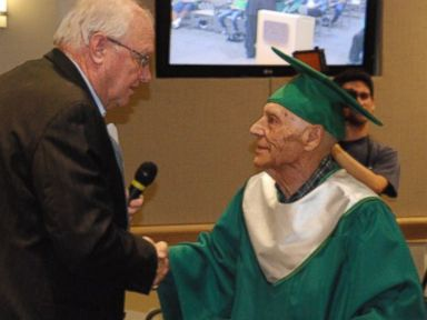 WWII Vet Gets High School Diploma 70 Years Later