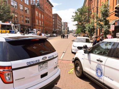 PHOTO: Denver police tweeted this photo from the scene of an apparent shooting, June 28, 2016.