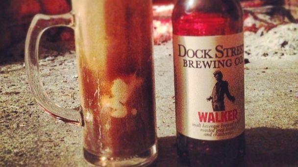 HT dock st brewing walking dead brain beer sk 140328 16x9 608 Walking Dead Beer Has Roasted Brains and Bloody Hue