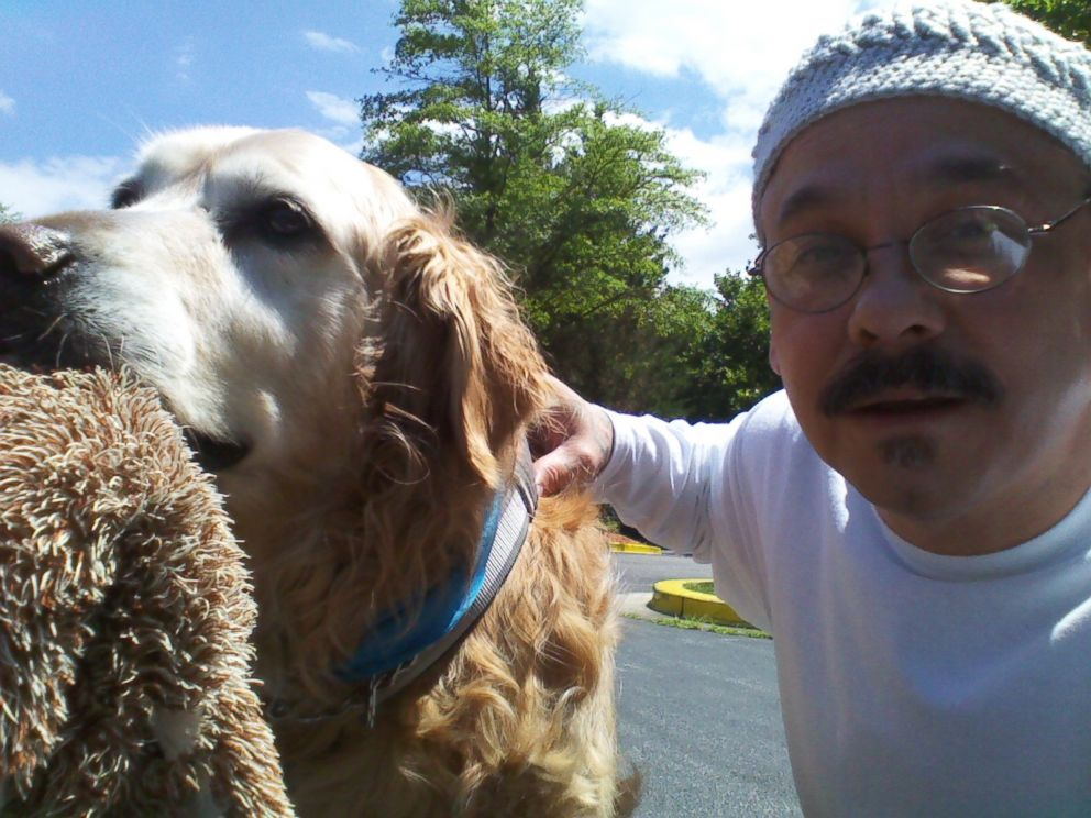 PHOTO: Babs Proller says Morales took this photo of himself with her dog, Buddy.