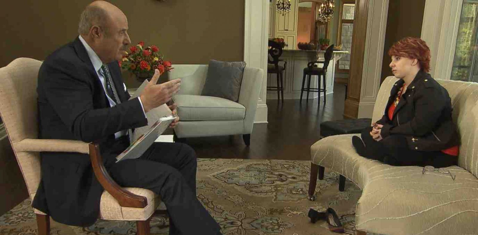 PHOTO: Dr. Phil sits down with Cleveland kidnap victim Michelle Knight for an exclusive multi-part interview which will air beginning, Nov. 4, 2013.