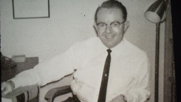 PHOTO: Dr. Robert N. McClelland is seen here at his office in Dallas, circa 1961.