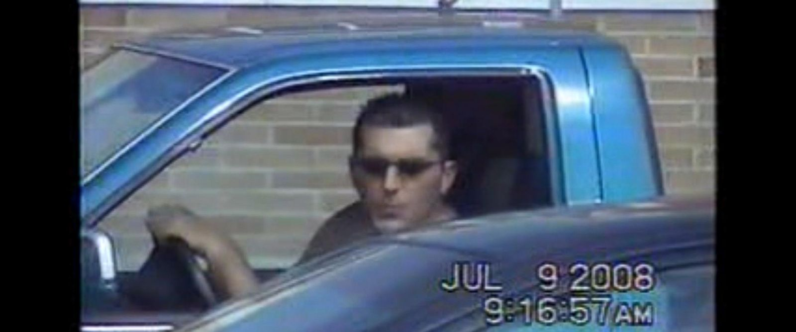 PHOTO: John Caltabiano is seen driving a car despite claiming he couldnt drive in his application for disability benefits.