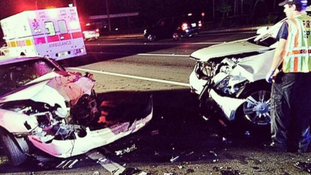 """PHOTO: Dwayne Johnson psoted this photo to Instagram, Aug. 10,2014 and tweeted, """"My mom and cousin were hit head on by a drunk driver. They lived. This was 100% preven"""